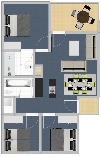 Three Bedroom Premium - Without Measurements